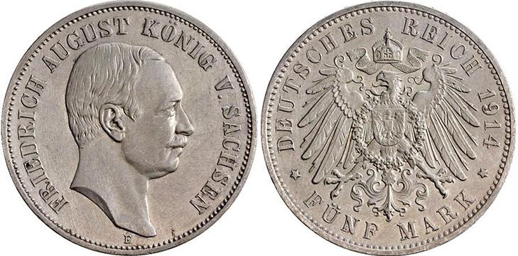 5 марок 1914 года