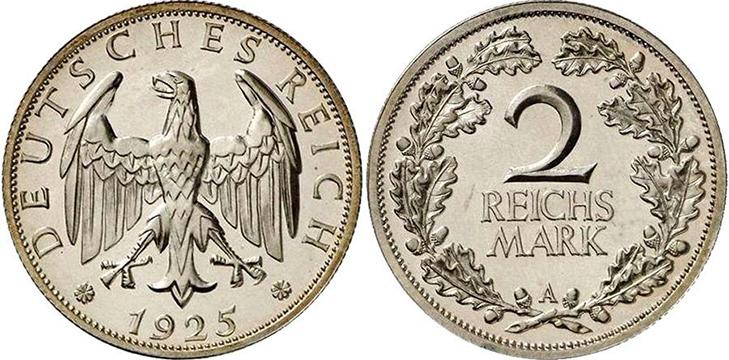 2 рейхсмарки Веймарской республики