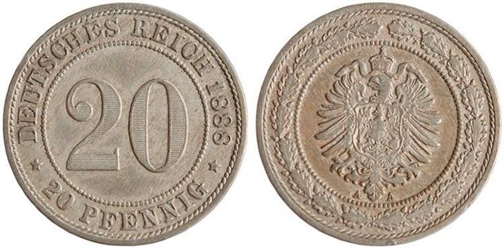 20 пфеннигов 1888