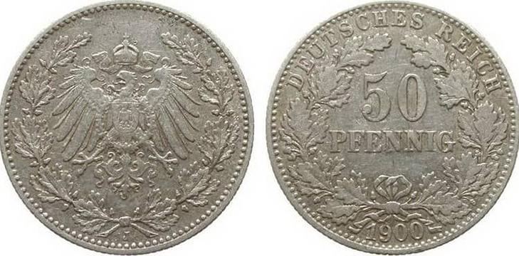 50 пфеннигов 1900 года