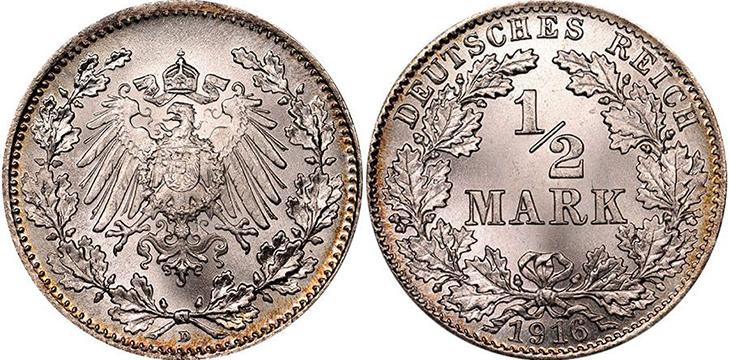 ½ марки 1916 года