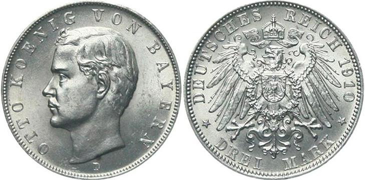 3 марки 1910 года