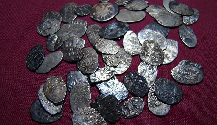 Чешуйки - серебряные монеты  царской России