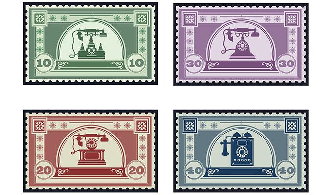 Векторная почтовая марка