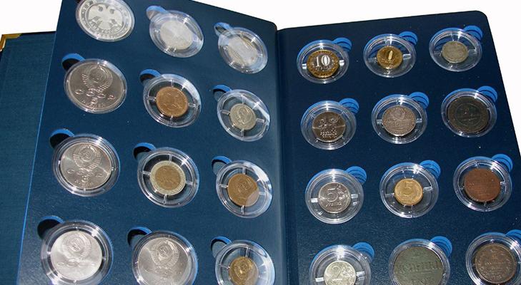 Капсульный альбом для монет
