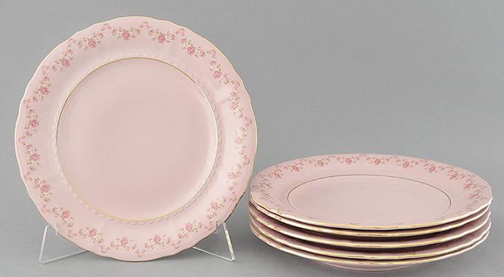 Чешский розовый фарфор
