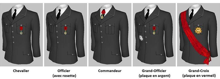 Как носить Орден Почетного легиона