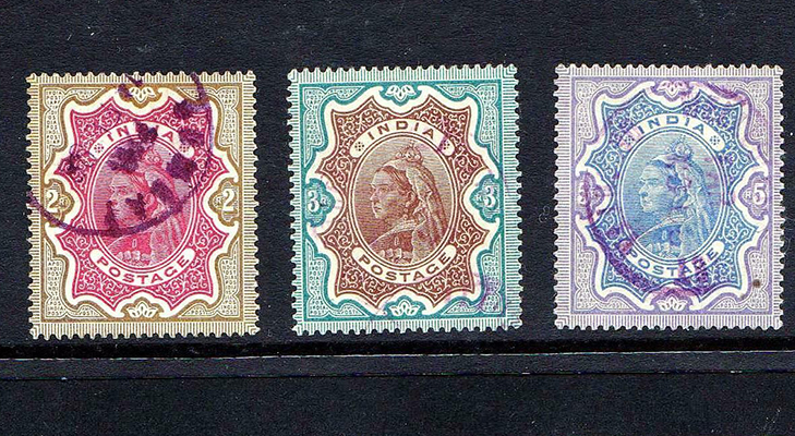 Индийские марки, 1895 год