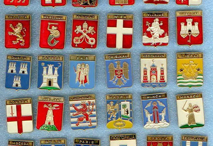 Значки Гербы столиц