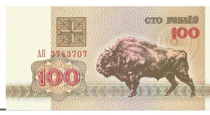 100 рублей в Белоруссии, 1992 год
