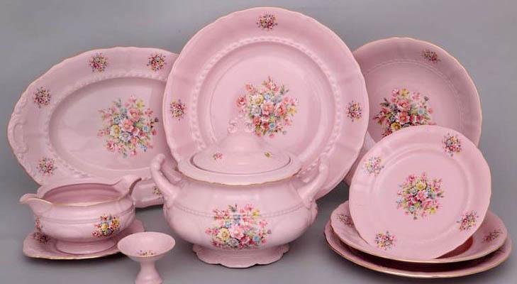 Розовый фарфор  LEANDER