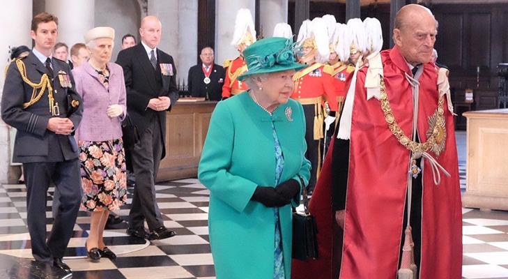 Кавалер ордена Британской империи герцог Филипп Эдинбургский