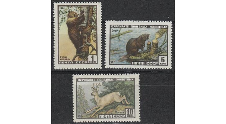 Серия почтовых марок «Фауна СССР», 1961 год