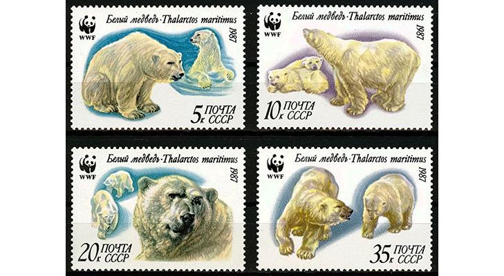 Серия почтовых марок «Фауна СССР», 1987 год