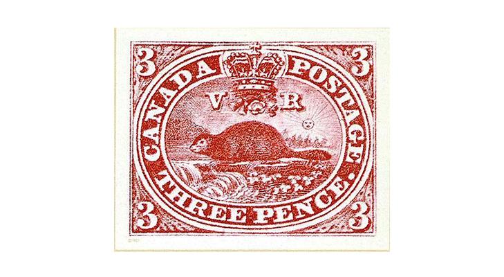 Первая марка с животными, Канада 1851 год