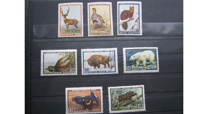 Серия почтовых марок «Фауна СССР», 1957 год