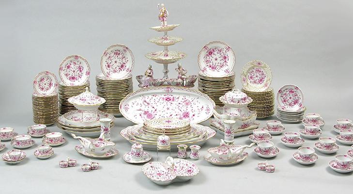 Сервиз 18 века из мейсенского фарфора