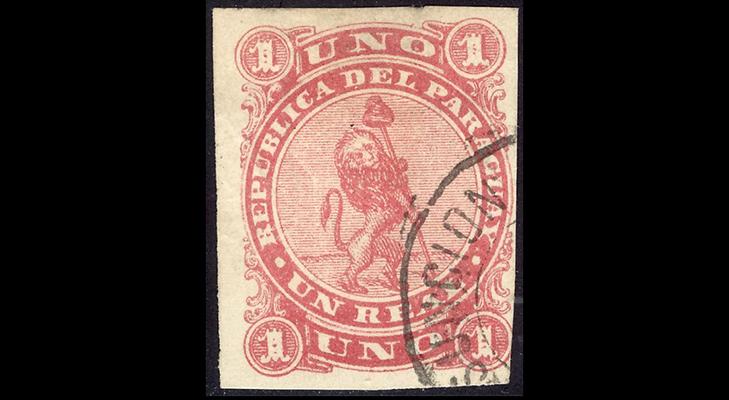 Первая почтовая марка Парагвая