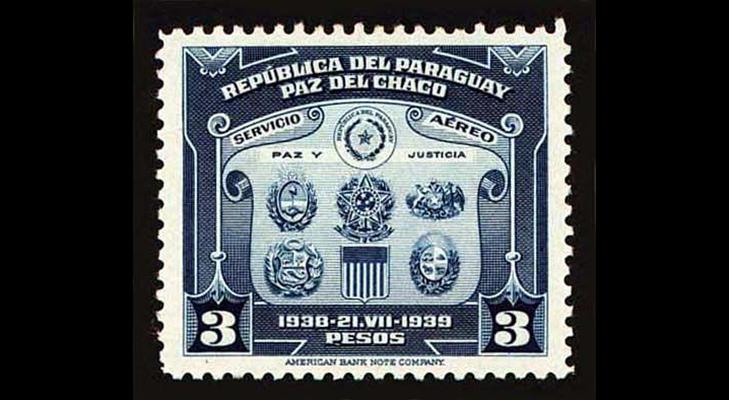 Марки времен почтовых войн Парагвая и Боливии