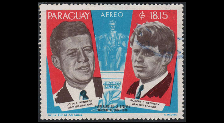 Почтовые марки Парагвая с Джоном Кеннеди