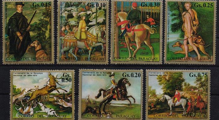 Почтовые марки Парагвая - Живопись