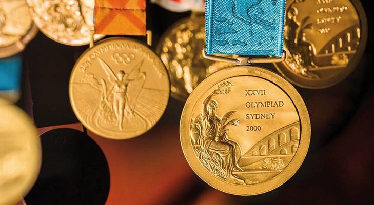 Золотые олимпийские медали