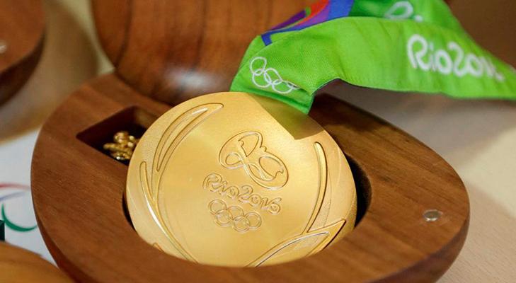 Золотые медали Олимпиады-16 - ленты и футляры