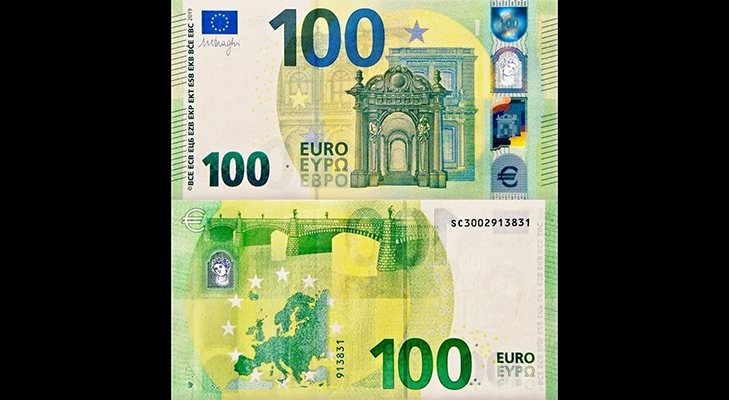Банкнота 100 евро образца 2019 года