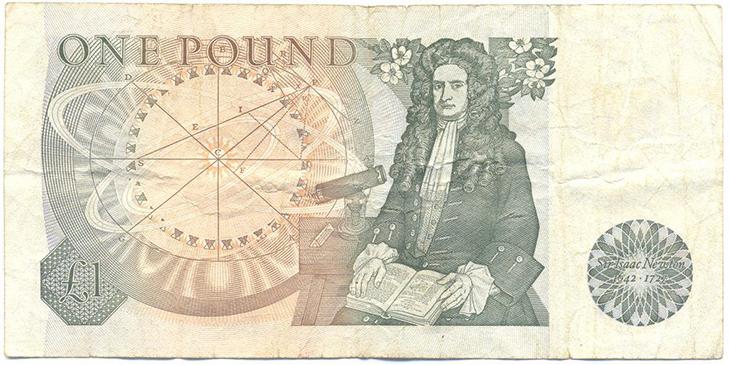 Фунт стерлингов с Ньютоном