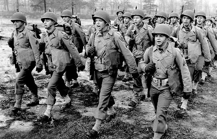 Американские солдаты во воремя Второй Мировой Войны