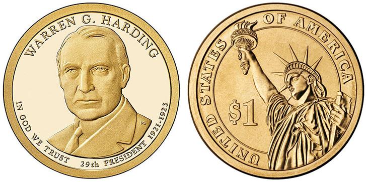 Президентские монеты в 1 доллар