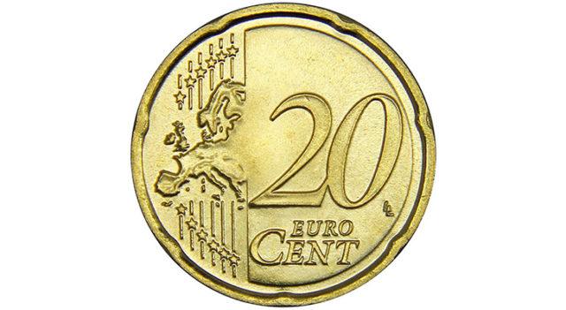 Монета 20 центов