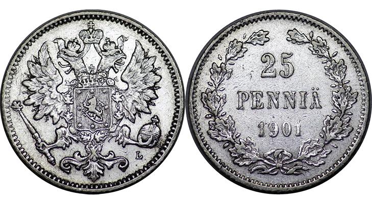 25 пенни 1901 года