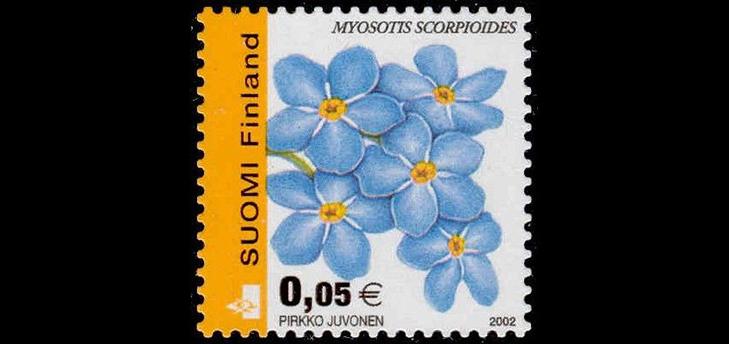 """Серия почтовых марок Финляндии """"Цветы"""" 2002 год"""