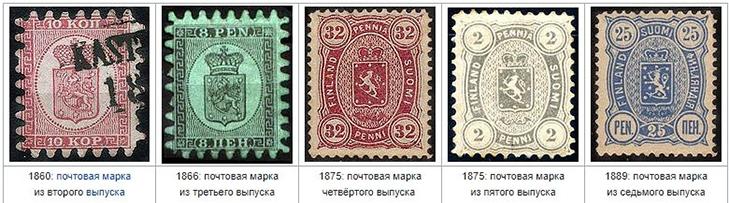 Почтовые марки Финляндии по годам
