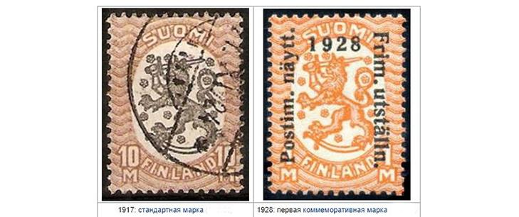 Почтовые марки Финляндии в период независимости