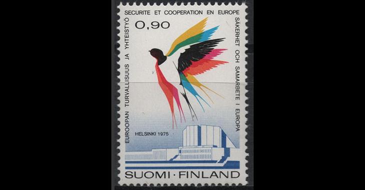 Марка Финляндии, посвященная финальному этапу Совбеза Европы в 1975 году
