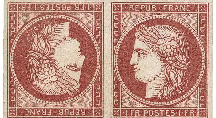 Французская марка «Светлый кармин с желтоватым» (тет-беш)