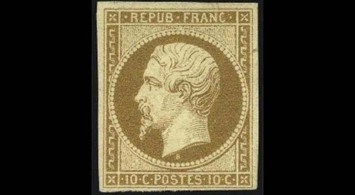 Французская марка «Наполеон III» образца 1852 года