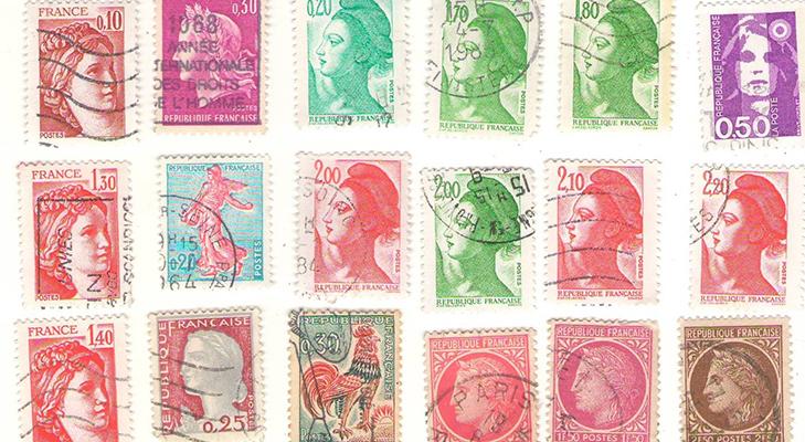 Тематика французских марок
