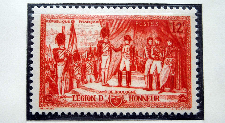Французская марка с Наполеоном