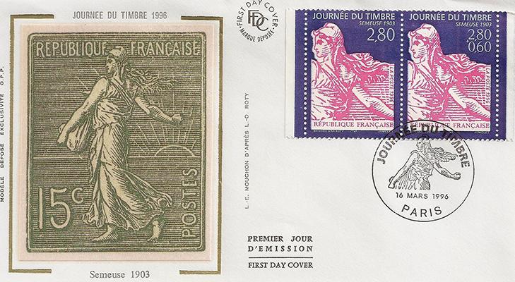 Французская марка Сеятельница, 1903 год