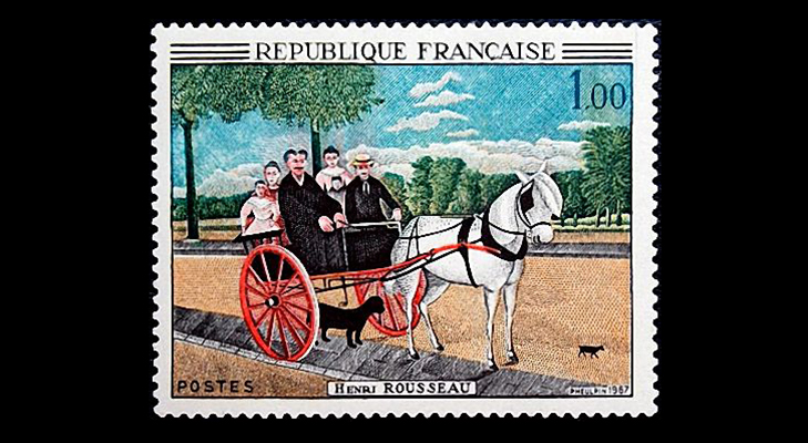 "Французская марка ""Отцовская повозка"" 1967"