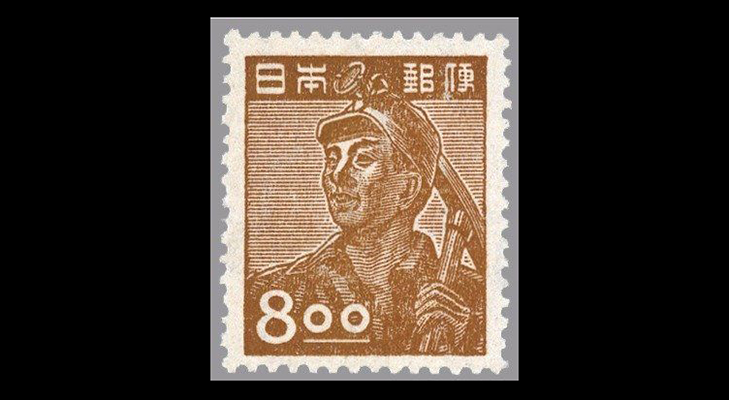 Марки Японии с портретами людей