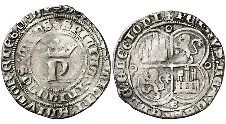 Первый серебряный испанский реал