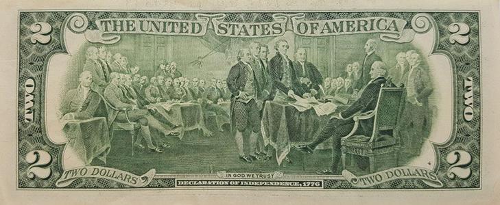 Банкнота 2 доллара - описание