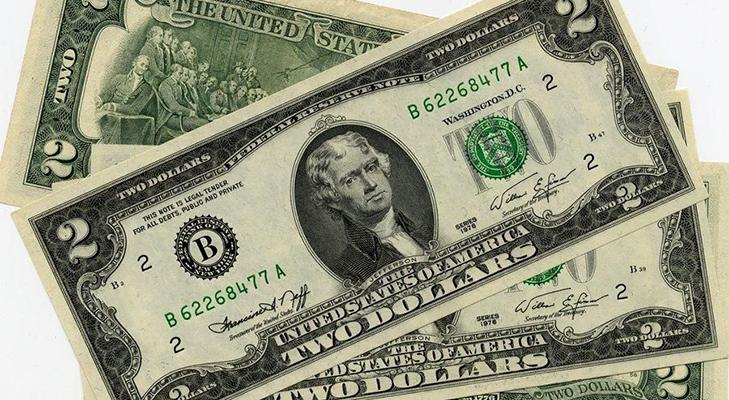 Банкнота 2 доллара 1976 года