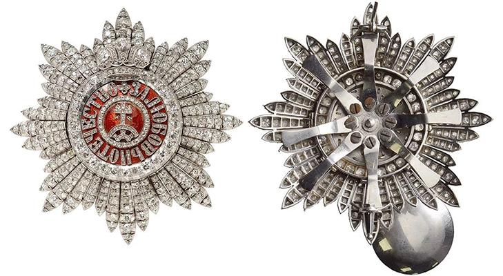 Орден Святой Екатерины - бриллиантовая звезда
