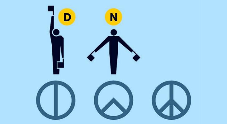 Пацифистский значок  - как появился