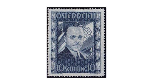 Почтовая марка Дольфус, 10 шиллингов (1936)